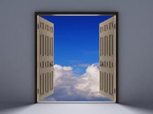 Open-Door-Blue-Sky